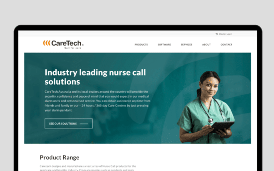 Caretech Casestudy Web Design Brisbane By Strong Digital Brisbane