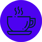 Coffee cup icon for The New Black Brisbane