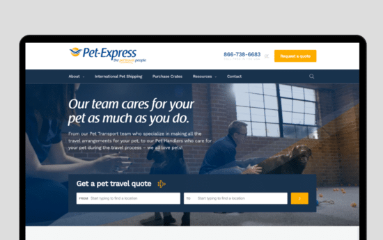 Petexpress Casestudy Web Design Brisbane By Strong Digital Brisbane