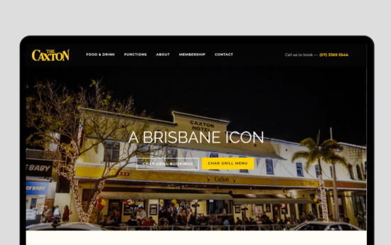Caxton Casestudy Web Design Brisbane By Strong Digital Brisbane